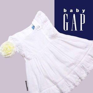 NWT Baby Gap White Eyelet Sleeveless Floral Dress